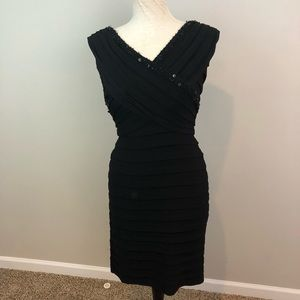 Adriana Papell black dress size 6 cocktail formal
